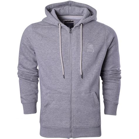 Hoodie Island 1 Zalfa Clothing crosshatch mens zip up hoodie hooded jumper sweatshirt