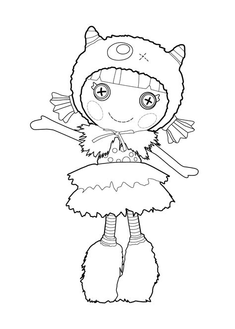 coloring book page from photo lalaloopsy coloring pages make a photo gallery lalaloopsy