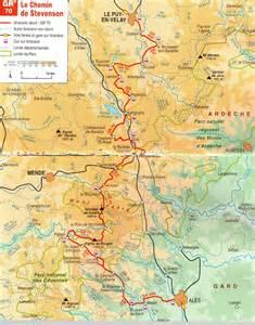 carte chemin de stevenson ligne d erre