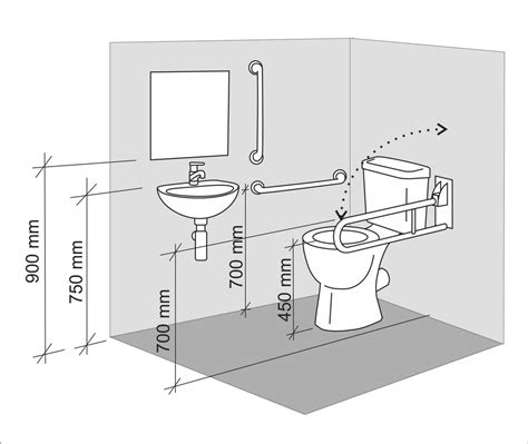layout toilet accessible toilet design wheelchair access design