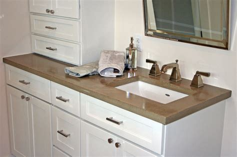 Modern Bathroom Countertops Concrete Bath Sinks Modern Vanity Tops And Side Splashes Minneapolis By Concrete Arts