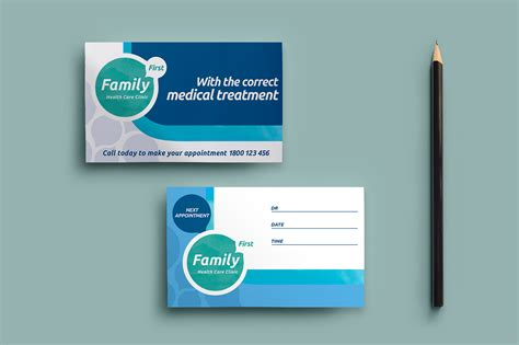 health care card template healthcare clinic appointment card template in psd ai