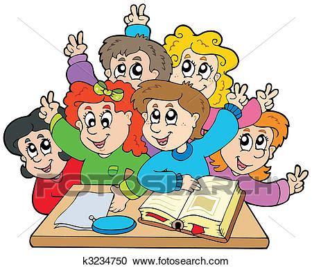 clipart per bambini clipart gruppo di bambini scuola k3234750 cerca