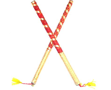 100 decorate dandiya sticks home wooden dandiya