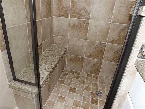 tiled shower with bench tile shower bench ideas pollera org