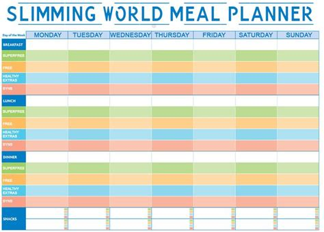 printable food diary for slimming world 1000 images about slimming world on pinterest menu