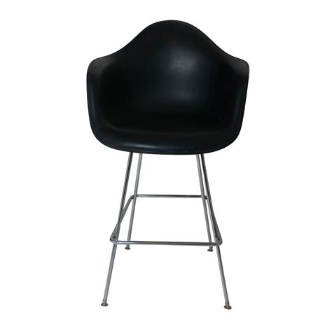 herman miller eames fiberglass bar stool with h base ebay