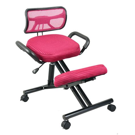 ergonomically correct desk chair ergonomically designed knee chair with back and handle
