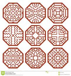 Chinese Flowers Meanings - korean traditional vector patterns ornaments stock vector