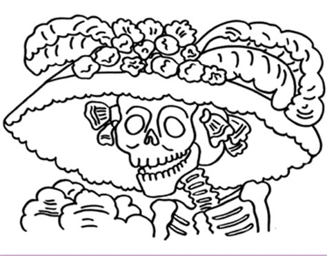 day of the dead catrina coloring pages catrina day of the dead coloring page pages sketch