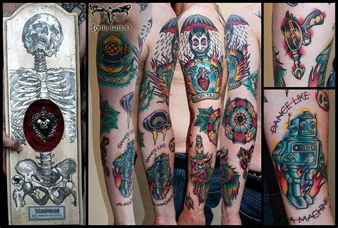 2nd Prize Best American Old School Tattoo At The American School Tattoos