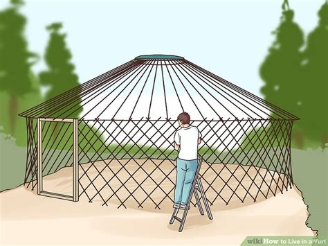 images of a yurt how to live in a yurt with pictures wikihow