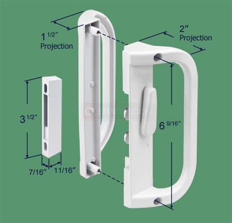 Sliding Patio Door Handle Replacement by 82 036 Surface Mount Handle Set 6 9 16 Quot Swisco