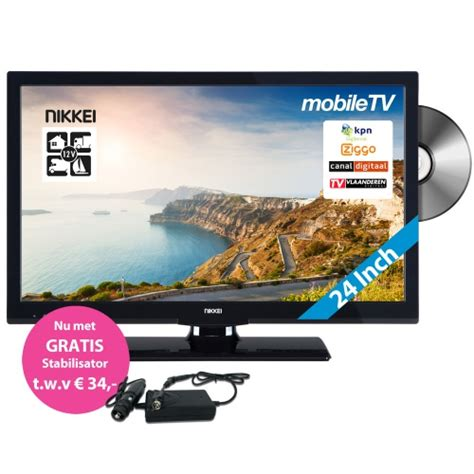 Tv Mobil 12 Inch nikkei mobile tv nld24mbk 12 volt 24 inch led tv met dvb s en fastscan nikkei mobile tv 12