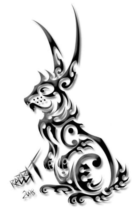 rabbit tribal tattoo rabbit images designs