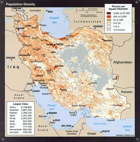 middle east demographic map iran population density map iran mappery
