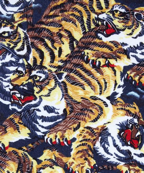 Kenzo Tiger lyst kenzo brown cotton flying tiger sweatshirt in brown