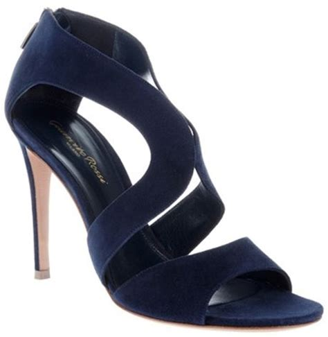 navy high sandals gianvito high heel sandal in blue navy lyst