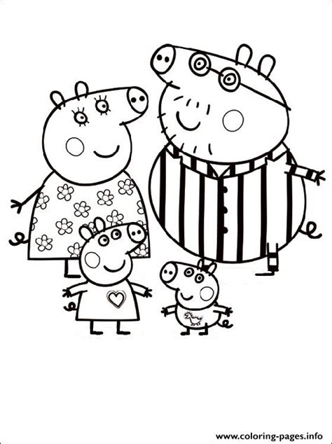 peppa pig cartoon coloring pages peppa pig cartoon free color pages for kids coloring pages