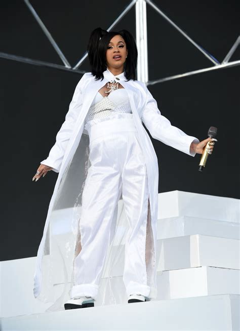 Dress White Cardy cardi b channeled an iconic tlc look for coachella