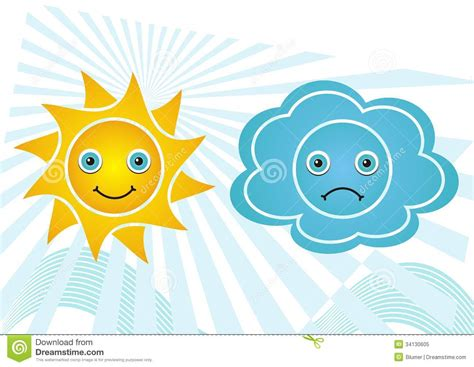 sunlight l for sad weather icons stock vector image of background blue