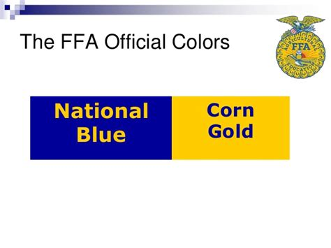 what are the ffa colors 1 01 ffa organization animal science i