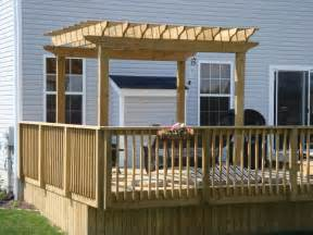 pergola with deck back deck pergolas woodguides