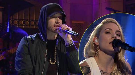 eminem on snl eminem sings a medley of his hit songs for snl 2017
