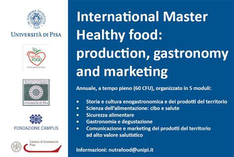 master sicurezza alimentare master internazionale sulla sicurezza nel cibo arriva