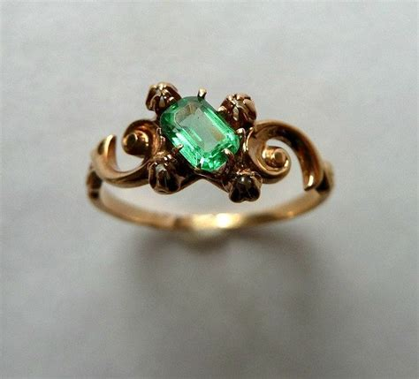 1000 ideas about emerald ring vintage on