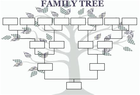 free family tree template family tree template template business