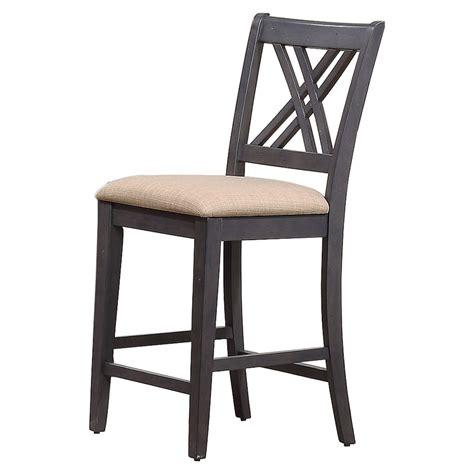 24 quot x back counter stool in black finish cf500424 bk double x back 24 quot counter stool upholstered seat black