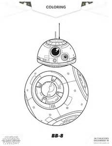 wars awakens printables wars the awakens bb 8 coloring page