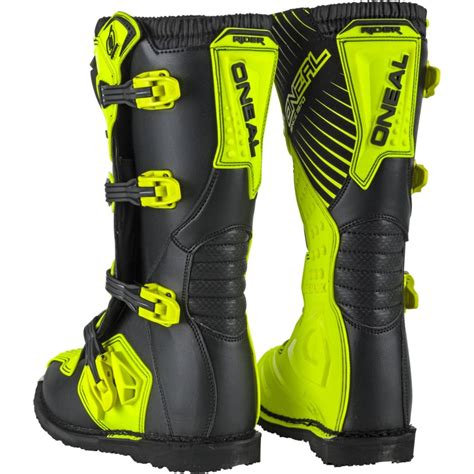 discount motocross boots oneal new 2018 mx rider cheap dirt bike hi viz fluro
