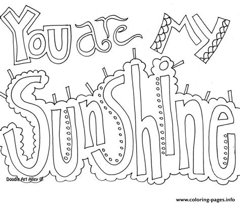 word coloring pages printable you are my sunshine word coloring pages printable