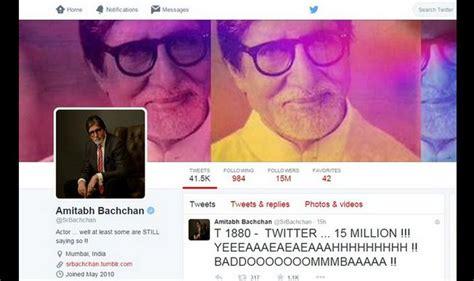 Amitabh Bachchan now has 15 million Twitter followers ...