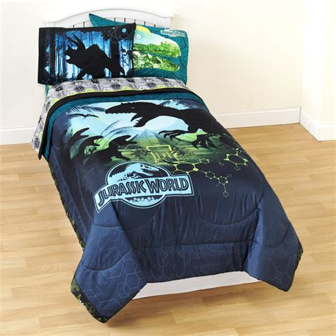 jurassic park bed set universal studios jurassic world twin microfiber comforter
