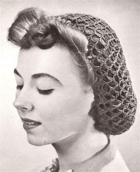 pattern for snood hair net vintage crochet snood hairnet hair net fishnet pattern