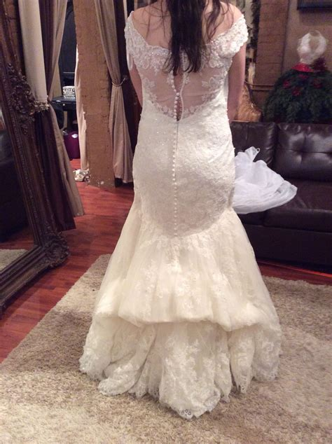 french bustle on lace mermaid wedding gown bustle styles