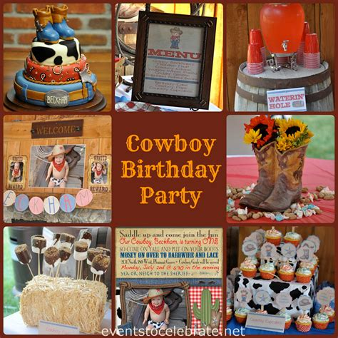 themed parties for november cowboy party menu archives events to celebrate