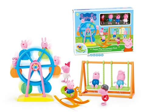 peppa pig swing peppa pig amusement park slides swing ferris wheel trojan
