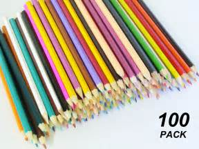 bulk 100 pack coloured pencils ebay