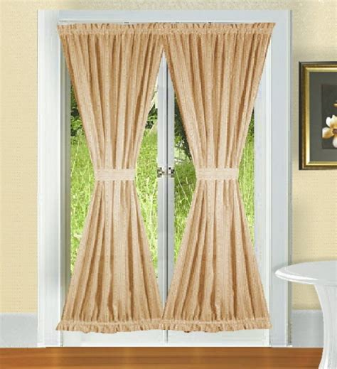 Drapes Bed Bath And Beyond Solid Tan Colored French Door Curtain Available In Many
