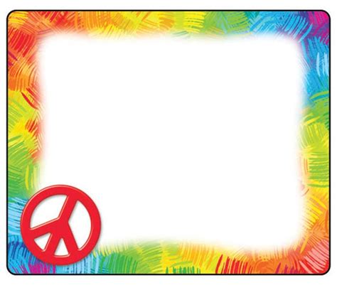 name tag border design peace sign border clip art clipart best