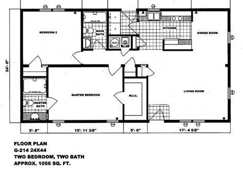 Mobile Homes Floor Plans by Double Wide Floor Plans 2 Bedroom 4 Bedroom Double Wide