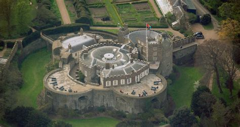 House With Moat by File Walmer Castle Aerial View Jpg Wikipedia