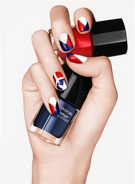 american flag inspired stripes  stars nail ideas