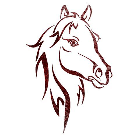 horse head stencil pattern hot girls wallpaper