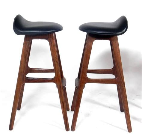 danish modern bar stools danish modern bar stools by erik buck at 1stdibs