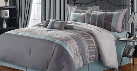 grey beige  aqua contemporary decorating chic home  piece euphoria embroidered comforter